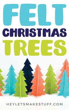 Use your Cricut to make these easy DIY felt Christmas trees, which make perfect Christmas home decor! This is a beginner Cricut project. Christmas Tree Costume, Diy Felt Christmas Tree, Christmas Trees For Kids, Christmas Tree Garland, Felt Christmas Decorations, Christmas Tree Pattern, Etsy Christmas, Christmas Projects, Easy Crafts