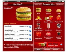 menu items mobile mc donalds - Google zoeken