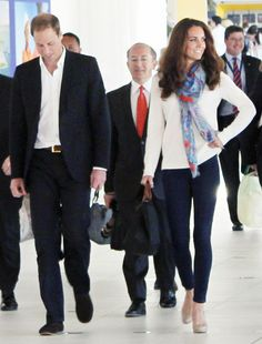 William and Kate at Brisbane Airport in Australia on September 19, 2012.