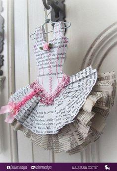 Gazeteden elbise :)
