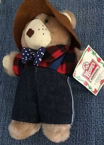 "Vtg 1980's Wendy's Furskins Farrell Teddy Bear 8"" Plush Toy   eBay"