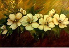 Flores blancas Mirta Guala - Artelista.