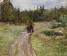 "thusreluctant: ""Couple on the Path to the Forest by Edvard Munch """