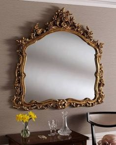 overmantle mirror gold - Google Search