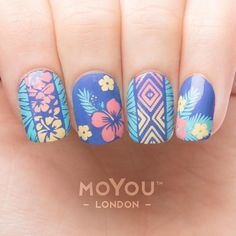 Keeping summer alive for a little longer! Join us and make your nails tropical!! Keep an eye out for a tutorial coming very soon  We used: Tropical 23 // Nail Polish: Blue Velvet / Teenage Blush / Electric Teal / Bahamas Punch