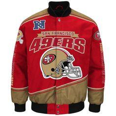 "San Francisco 49ers Men's NFL G-III ""Enforcer"" Premium Twill Jacket #GIII #SanFrancisco49ers"