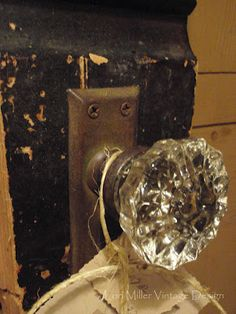 Vintage Door Knob FACEPLATES Vintage 1800\'s by KimberlyHahn, $99.00 ...