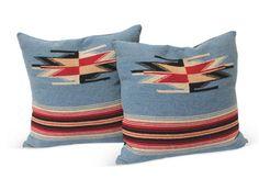 Navajo woven pillows.  Monticito Collection on OneKing'sLane.
