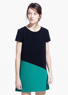 Farb-und Stilberatung mit www.farben-reich.com - Minimal Bicolor Dress