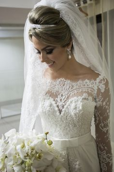 Beadings Lace Wedding Dress Long Sleeves with Gorgeous New Arrival Princess Full Bridal Gowns