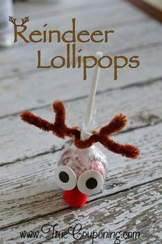 Reindeer Lollipops Christmas Craft - Shanda Huckleby - Reindeer Lollipops Christmas Craft How cute are these! Great for a child to make to give as gifts to classmates for Christmas! Christmas Candy Crafts, Diy Christmas Gifts For Kids, Handmade Christmas Gifts, Holiday Crafts, Christmas Christmas, Christmas Presents, Christmas Ideas, Preschool Christmas Gifts For Classmates, Candy Cane Crafts