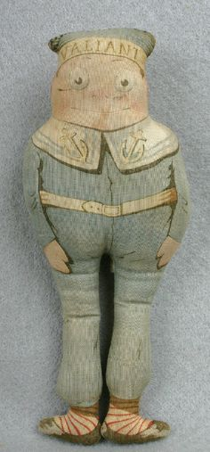 "Antique Arnold Print Work - Sailor ""Brownie"" doll"