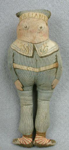 "Antique Arnold Print Work - Sailor ""Brownie"" doll"