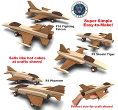 Build the Quick N Easy Vietnam Fighter Planes Full-Size Wood Toy Plan Set