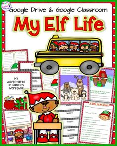 This digital Christmas resource for Google Drive / Google Classroom contains 12 slides to imagine life as one of Santa's Elves. Students in grades 1-3 can use these engaging writing prompts and graphic organizers to journal about their day as an elf. A blank sheet is included for creative writing.