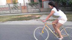My sis is testing my sspeed. Bicycles, Bike, Bicycle, Biking