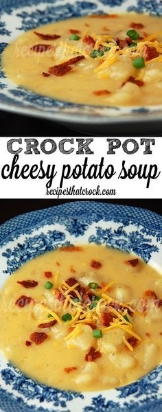 This was a big hit! Everyone at my table loves it. I peeled 10 potatoes before school and started it in the crockpot. I garnished it with fresh bacon, cheddar, and sour cream. Easy, and made a lot. We all are plenty, and there were enough leftovers for about 4 servings.