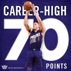 A night we'll be talking about for years. Devin Booker is the 6th player in #NBA history to score at least 70 points in a game.