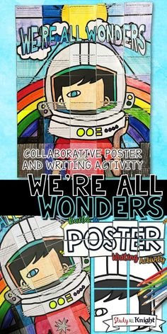 WE'RE ALL WONDERS BY R.J. PALACIO, WRITING ACTIVITY, POSTER, GROUP PROJECT | Collaborative Poster | Picture Book Companion | Elementary School | Read Aloud | Bulletin Board | Choose Kindness | Be Kind