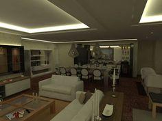 Sala de Estar/Jantar - Apartamento Residencial