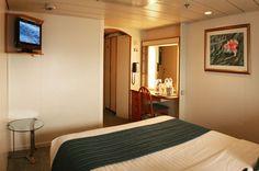 Detalle camarote categoría L interior barco Sovereign