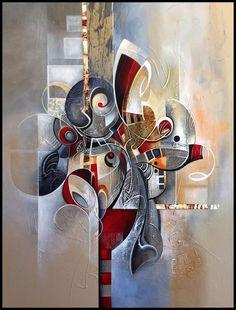 BOTTLEYK Cuadros en Lienzo Modernos Impresi/ón de Imagen Art/ística Arte de Decorativos Mural,para Hogar Sal/ón Dormitorio Ba/ño Cocina Decoraci/ón de Pared Abstracto /— 5 Piezas /— Llama de Amor,150x80cm