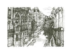 rue pierre demours Limited Edition Art Print by pottsdesign | Minted
