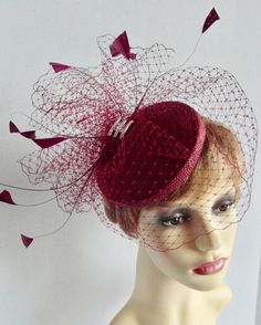 Fascinators, Red Wedding, Ladies Day, Mother Of The Bride, Headpiece, Veil, Your Hair, Special Occasion