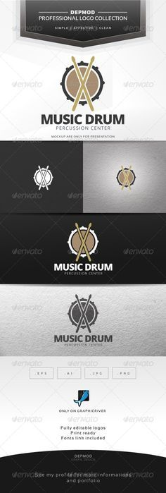 Music Drum Logo #graphicriver