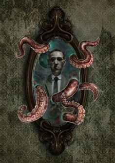 Credit to from - Tribute to Lovecraft. I Hope you like it. Lovecraft Cthulhu, Hp Lovecraft, Call Of Cthulhu Rpg, Cthulhu Art, Dark Fantasy, Fantasy Art, Lovecraftian Horror, Eldritch Horror, Dark Artwork