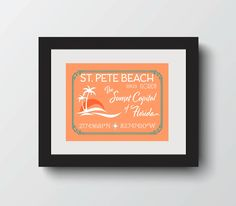 ST. PETE BEACH CITY SIGN  The sunset Capital of Florida! A great addition to your wall or an amazing gift for a favorite person! Check out all the cities available! They make a well traveled collection together. FREE SHIPPING! #etsy #florida #walldecor #stpetebeach