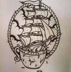 Storm in a teacup - tattoo inspiration