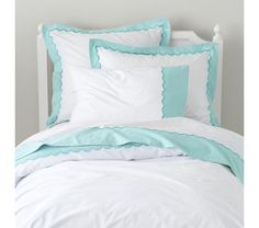 Girls Bedding: Teal Scalloped Bedding Set