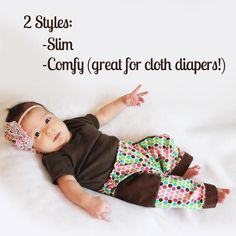 baby pants pattern for cloth diapers. baby pants pattern. NB-24 months. Slim & comfy sizing. Great for cloth or disposable diapers!