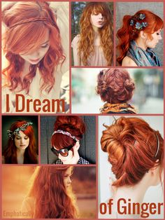 I should have been a ginger! My passion started with Anne Shirley, Ariel, and Jessica Rabbit. Now it includes Felicia Day, Amy Pond, and Merida.