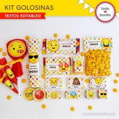 Emojis: kit etiquetas de golosinas