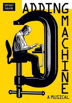 Luba Lukova, Adding Machine, affiche de théâtre
