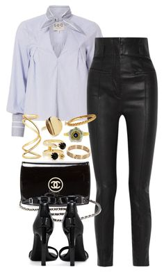 """""""Chanel x Yves Saint Laurent"""" by muddychip-797 ❤ liked on Polyvore featuring Sea, New York, Haider Ackermann, Chanel, Yves Saint Laurent, Maison Margiela, Joomi Lim, Elizabeth and James, Cartier, Buccellati and NYFW"""