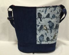 3523bbe153 Bucket Bag Shoulder Bag Slouchy Hobo Bag Denim by LizzyBethDesigns Techno,  Táskák, Vászontáska