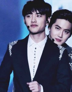 D.O and Suho being cute together