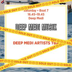 Saturday Boat 7 - Deep Medi Music *Sold Out*