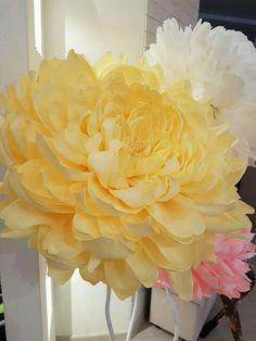 Купить Пион из гофрированной бумаги - большие размеры, большие цветы, гигантские цветы, большие пионы