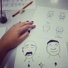 """""""primera clase de tinta: expresiones de emociones"""""""