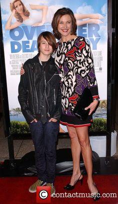 Brenda Strong, her son