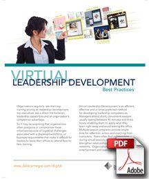 "Dale Carnegie Training's Guidebook ""Virtual Leadership Development Best Practices"" provides practical guidance for developing successful virtual instructor led leadership training programs."
