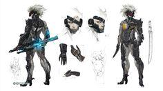 Raiden Concept Art - Metal Gear Rising Revengeance by Serenity-Discord on DeviantArt Character Model Sheet, Character Creation, Character Concept, Character Art, Concept Art, Game Concept, Deviant Art, Cyberpunk, Raiden Metal Gear