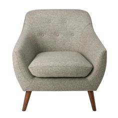 HomePop Monroe Modern Tufted Accent Chair - Gray