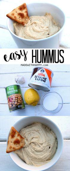 Easy Hummus Recipe - Simple Hummus Dip - www.madewithHAPPY.com - #ad #WowWithTownhouse