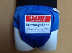 Doctor Who Cloth Diaper   Stormagddon Cloth by MonkaDunkCreations