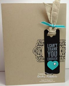 Inking Idaho: Chalk Talk Like Shelli! Like having a bookmark as part of a card...
